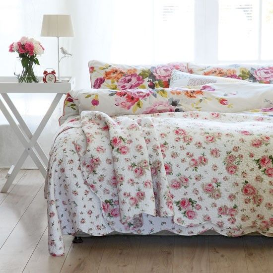 Floral country bedroom