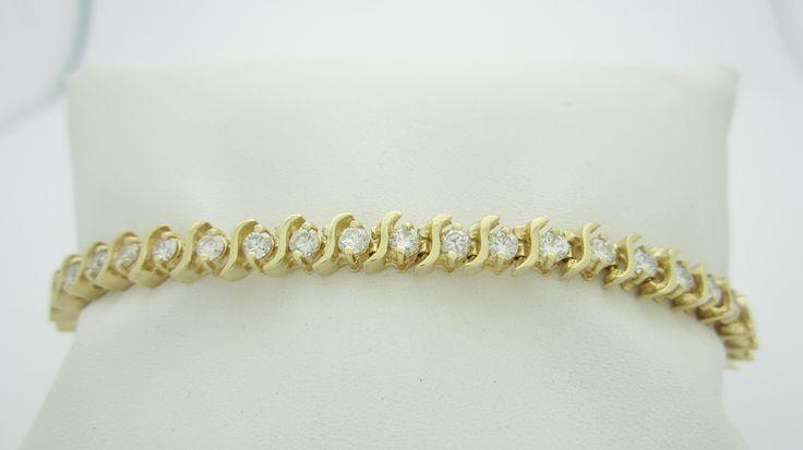 14k  2.20ctw  Natural Diamond Tennis Bracelet  Check out our eBay store stores.ebay.com/newbeginings10