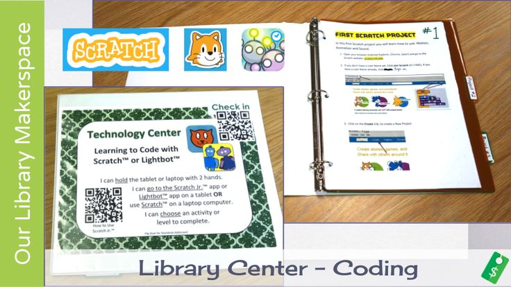 Makerspace Activities for Elementary School Libraries - FREE Coding and Programming Center | Mrs. J in the Library @ A Wrinkle in Tech