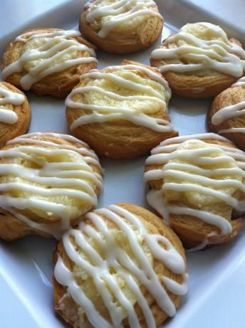 Individual Cream Cheese Danish Ill have to make these for Shaun and see if he thinks they are good , he loves cream cheese danish