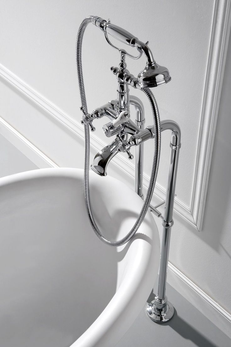 Lamp graff bathroom faucets - Floor Standing Bathtub Tap With Hand Shower Canterbury Bathtub Tap Graff Europe West