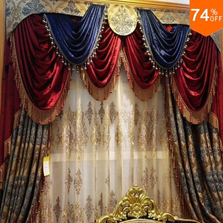 Find More Curtains Information about Red Blue Tent Embroidery Golden and blue flowers on Beige curtains for hotel Hall Curtain Classic elegant Living Room Curtains,High Quality curtains lowes,China curtains for big windows Suppliers, Cheap curtain pole from Fashion Trend For You on http://www.aliexpress.com/store/product/Red-Blue-Tent-Embroidery-Golden-and-blue-flowers-on-Beige-curtains-for-hotel-Hall-Curtain-Classic/213632_32588059909.html