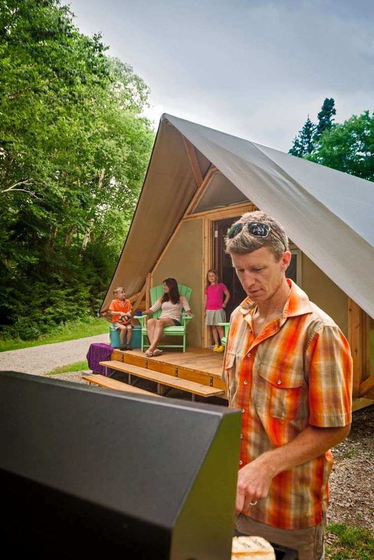 Somewhere between a tent and a cabin, Parks Canada's oTENTiks are the best thing going for the indecisiveness in us all. Book one at Fundy or Kouchibouguac national parks. www.tourismnewbru...