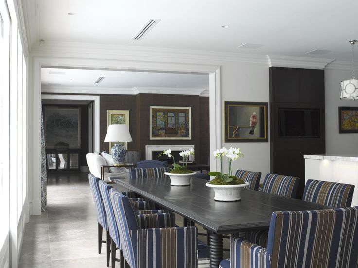 Dining Room with Family Room beyond