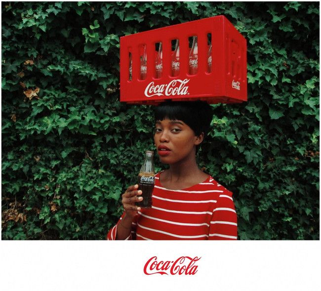 Tony Gum's 'Black Coca-Cola.'  Tony Gum is a young Cape Town based, Xhosa lady with a refreshing approach to a multi-national barnds' imprint on post-colonial, African society.