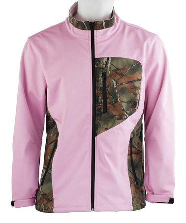 Another great find on #zulily! Pink & Camo Soft-Shell Jacket - Women by Trail Crest #zulilyfinds