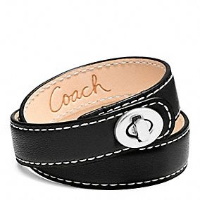 .: Turnlock Bracelet, Coach Leather, Wrap Turnlock, Up Clothes Shoes Bags