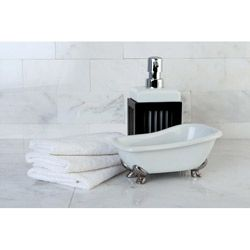 clawfoot bathtub accessory 2piece set overstock shopping the best prices on