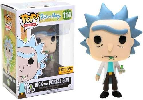Funko Rick & Morty POP! Animation Rick with Portal Gun Exclusive Vinyl Figure #114