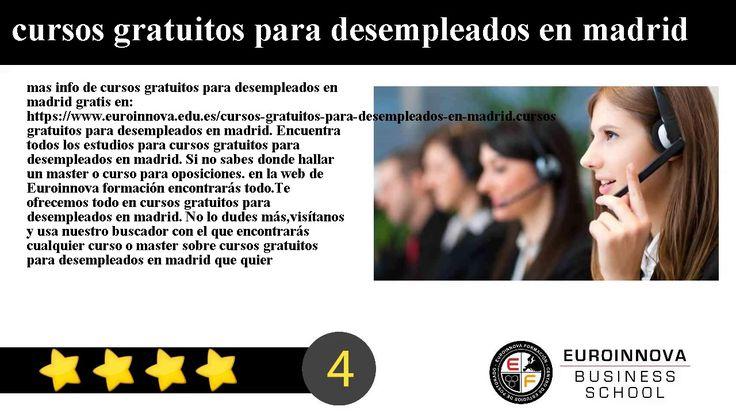 cursos gratuitos para desempleados en madrid - mas info de cursos gratuitos para desempleados en madrid gratis en: https://www.euroinnova.edu.es/cursos-gratuitos-para-desempleados-en-madrid.    cursos gratuitos para desempleados en madrid. Encuentra todos los estudios para cursos gratuitos para desempleados en madrid. Si no sabes donde hallar un master o curso para oposiciones. en la web de Euroinnova formación encontrarás todo.    Te ofrecemos todo en cursos gratuitos para desempleados en…
