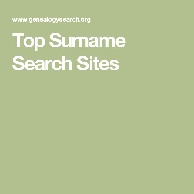 Top Surname Search Sites