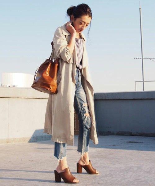 【Lady like】テンセルラップトレンチコート(トレンチコート)|Ungrid(アングリッド)のファッション通販 - ZOZOTOWN