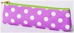 Κασετίνα Mark΄sphere dot MS Σε μωβ χρώμα δύο όψεων πουά και ριγέ Υλικό: Βαμβάκι (EVA-επικάλυψη), νάιλον, μέταλλο