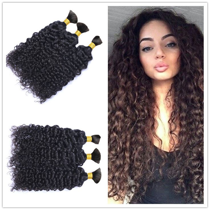 Brazilian Virgin Kinky Curly Human Braiding Hair Bulk 300g/lot Top Quality Afro Kinky Curly Human Hair Extension No Weft-in Human Hair…