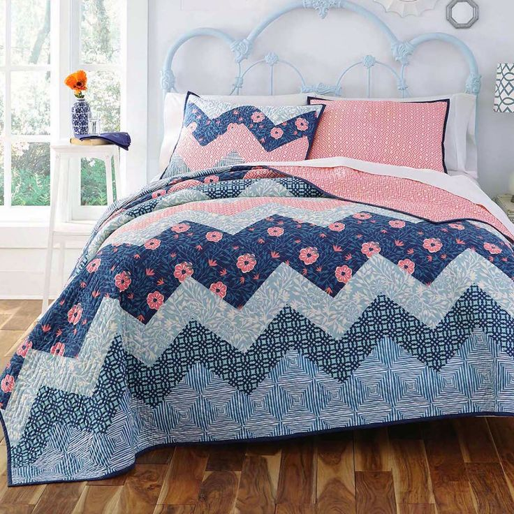 25 Best Ideas About Navy And Coral Bedding On Pinterest
