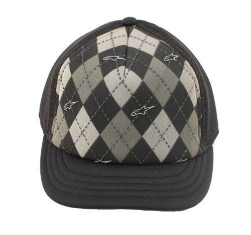 ALPINESTARS Women NWT Argyle Small Bill Flex Fit Hat Cap Black Summer Lake #Alpinestars