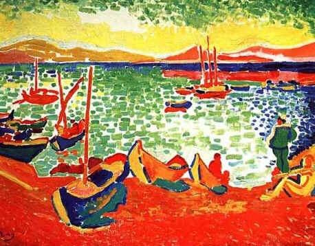 As obras eram feitas com cores fortes e ousadas, aplicadas de maneira rude sobre as telas