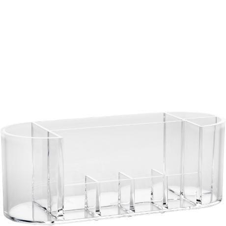 Förvaring i transparent akryl med många fack. Bredd 18,5 cm Höjd 6 cm Djup 6 cm 69:-