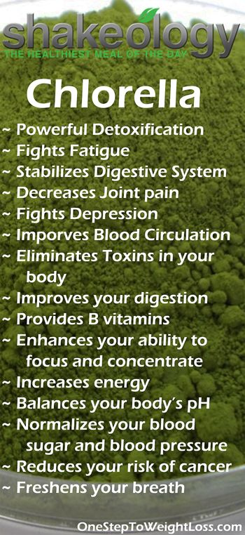 One many amazing Shakeology ingredients! Chlorella is one of the most powerful detoxification tools to eliminate accumulated toxins, including mercury, in your body. Find out what else Shakeology can do for you: www.tipstolosewei... #ShakeologySuperfoods