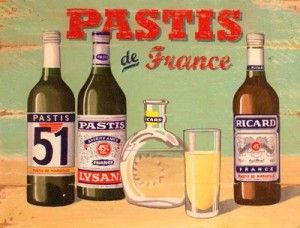 Pastis. This anise-flavored liquor was created in the wake of a ban on absynthe and has been a staple of the French aperitif ever since.