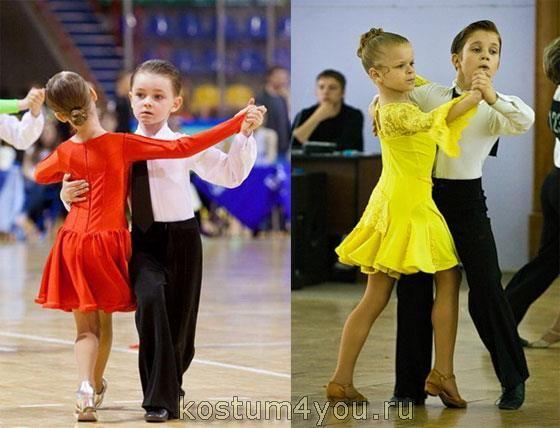 Детские костюмы для латинских танцев