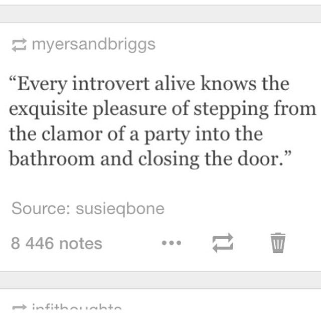 every introvert alive knows the...