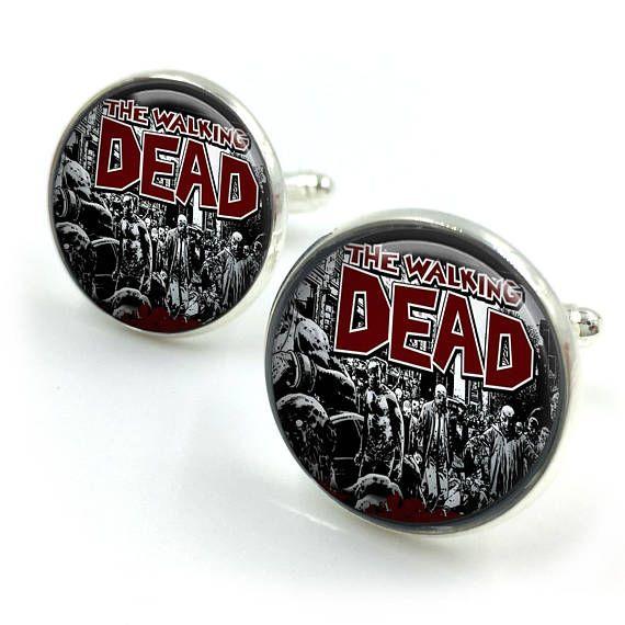 The Walking Dead Zombies Cuff links Zombie Cufflinks walking