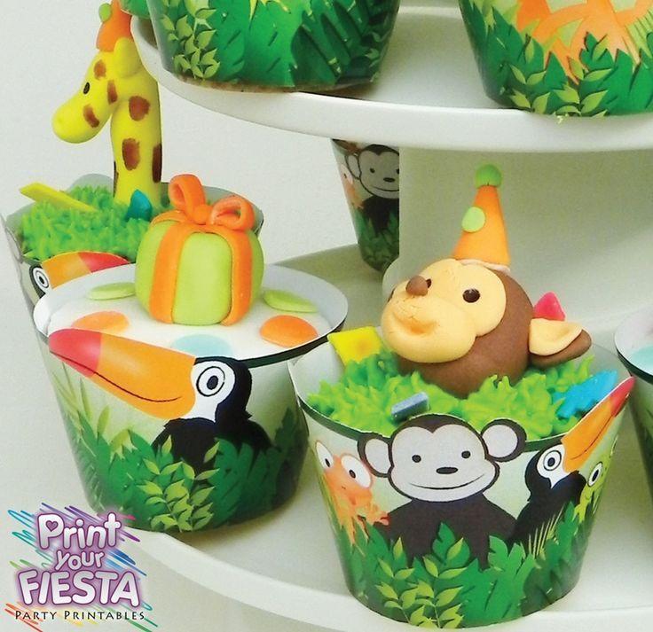 CupcakesCupcakes Ideas, Jungles Cupcakes, Cupcakes Recipe, Cups Cake, Parties Ideas, Cupcakes Cak, Baby Cupcakes, Cupcakes Wrappers, Cupcakes Rosa-Choqu