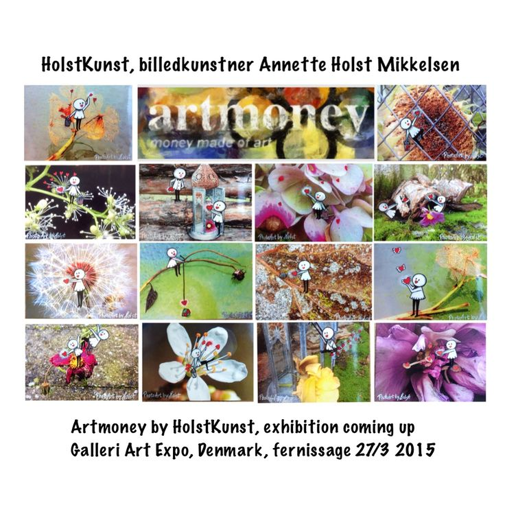 Original photos from Holst kunst, handpainted with motives from my #heartseries, #exhibition with #artmoney #photoart by #HolstKunst #Galleri Art Expo, #fotokunst #danmark