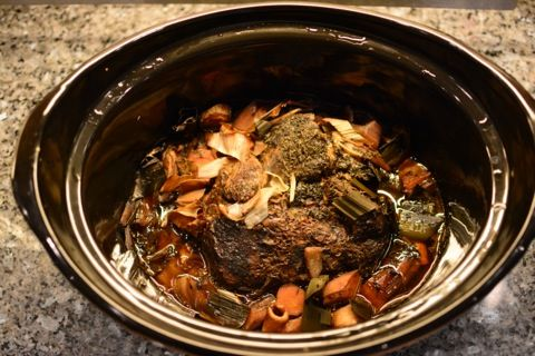 Högreven efter 12 timmar i crock-pot