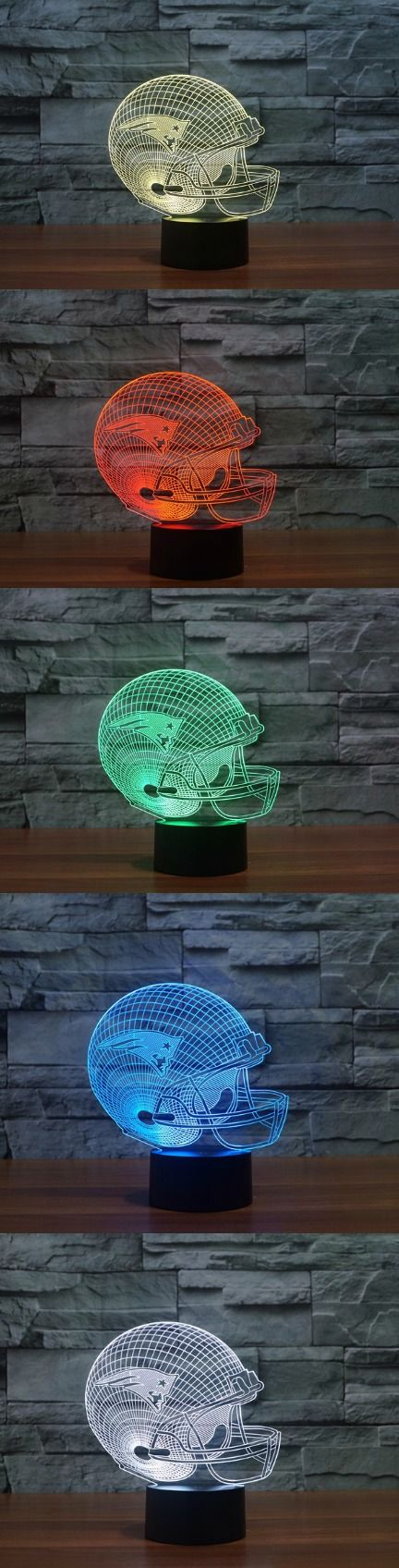 England Patriots Football Caps Helmet LED Table Lamp! Click The Image To Buy It Now or Tag Someone You Want To Buy This For. #football