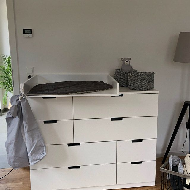 Puckdaddy Changing Top Separation Compartment Changing Table Top For Ikea Malm Dresser In White In 2020 Ikea Ikea Hemnes Dresser Changing Table Top