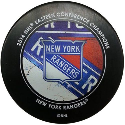 New York Rangers 2014 NHL Stanley Cup Finals Conference Champions Hockey Puck #SherWood #NewYorkRangers