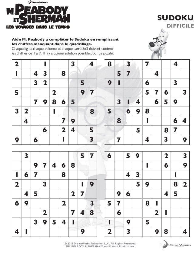Sudoku difficile