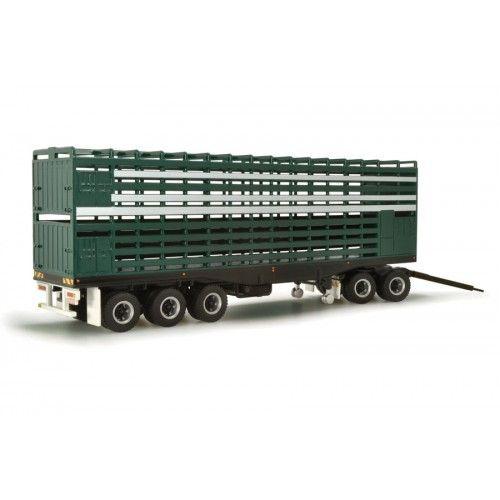 Livestock Road Train Trailer & Dolly - Green/White