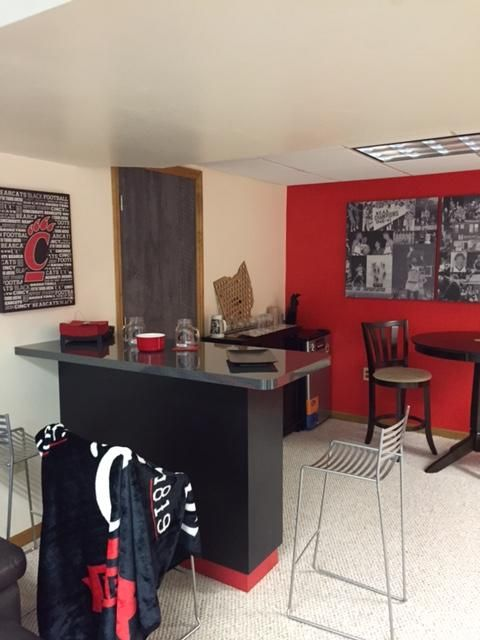 University Of Cincinnati Fan Cave Winner Received A Custom Make Over With  Formica Laminate Products.