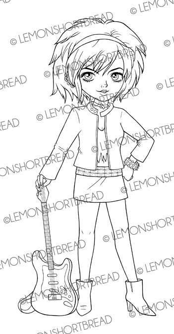 rockstar girl coloring pages - photo#33