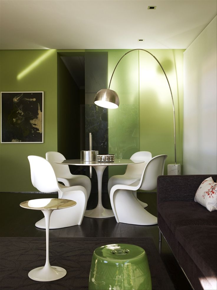 Extraordinary Dining Room Green Interior Design
