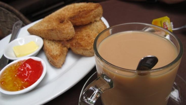 toast and teh tarik for breakfast