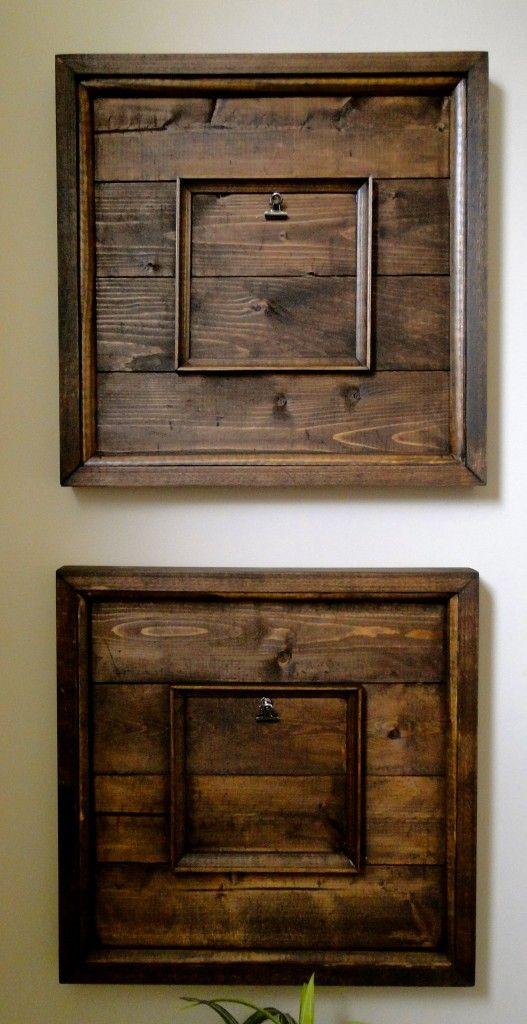 reclaimed wood art frames a nice idea for the kids play room an school art