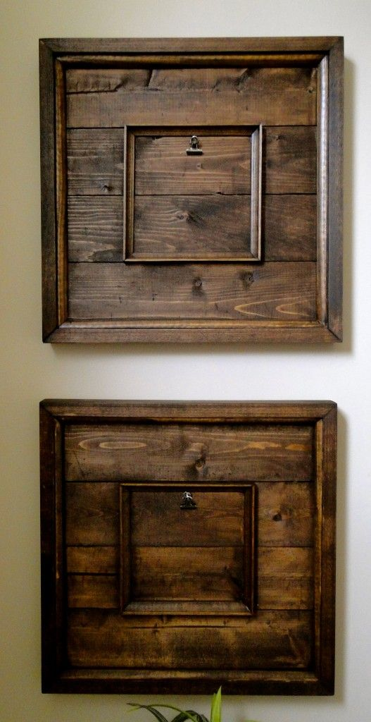 reclaimed wood art frames a nice idea for the kids play room an school art