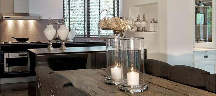 Romantisch eettafel grenzend aan kookeiland kitchen praktisch pinterest - Kookeiland tafel ...