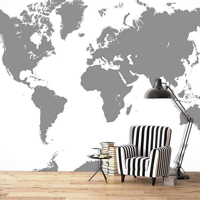une nuance de gris sobre et design avec cette carte du. Black Bedroom Furniture Sets. Home Design Ideas
