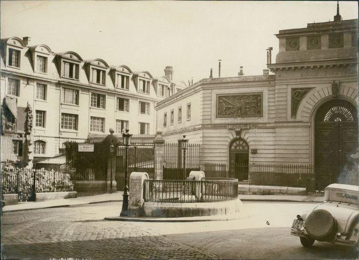 Paris, l'école polytechnique rénovée Vintage silver print Tirage argentiq