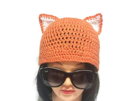 Check out this item in my Etsy shop https://www.etsy.com/ca/listing/475133558/women-fox-hat-crochet-fox-ear-hot