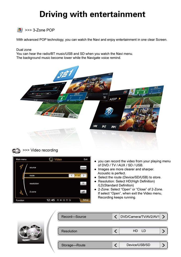 après marché Navigation-Ready voiture Bluetooth stéréo mise à niveau pour 2012 Toyota Camry(US Version)avec AM/FM Tableau de Bord DVD Soutien RDS Caméra de recul