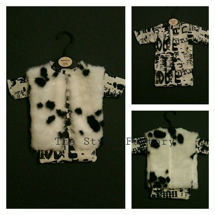 Total outfit set consisting of dresses and fur vests in size 0-2 months // thestylefactory.pl //