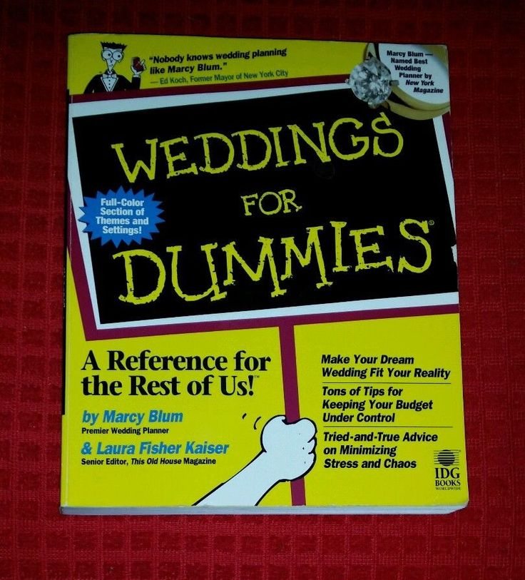 Weddings for Dummies by Blum & Kaiser Budgets Locations Schedules Invitations pb