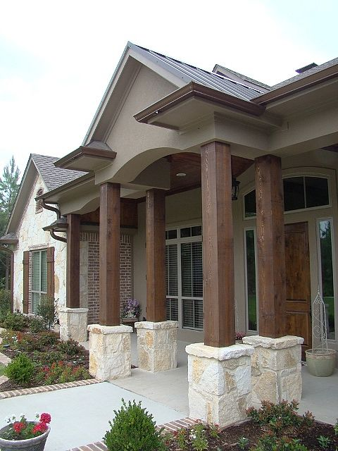 Painted Stone Pillars : Best images about home exterior makeovers on pinterest