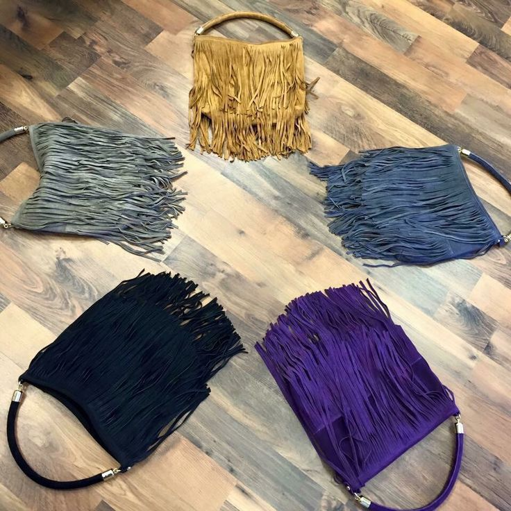 Suede fringe bags